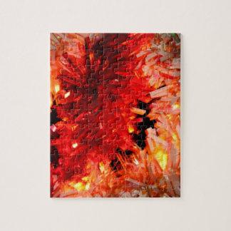 extracto rojo de la guirnalda puzzle