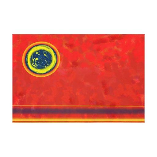 """Extracto rojo de la lona 36x24"""" impresión de lienzo"""