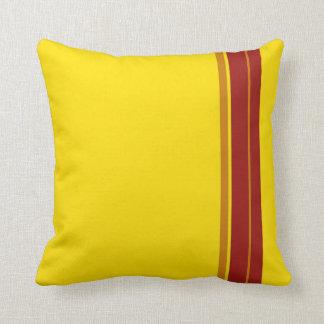 Extracto rojo del diseño del arte de las rayas del cojines