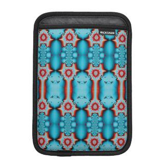 Extracto rojo del fractal de la turquesa fundas de iPad mini