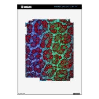 Extracto rojo del guepardo de la turquesa iPad 3 pegatinas skins