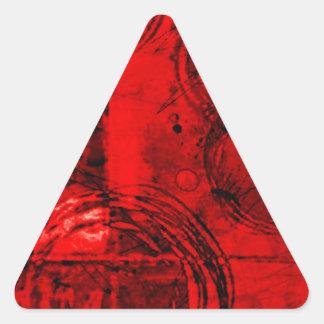 Extracto rojo/del negro pegatina triangular