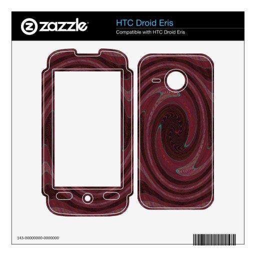 extracto rojo del vórtice HTC droid eris skins