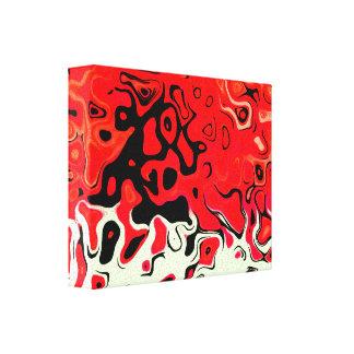 Extracto rojo feliz impresión en lienzo