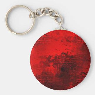 Extracto rojo llavero redondo tipo pin