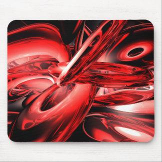 Extracto rojo Mousepad de la radiación gamma Tapete De Raton