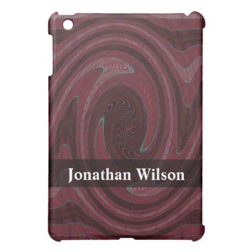Extracto rojo oscuro personalizado del círculo iPad mini cárcasa