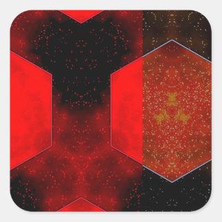 Extracto rojo pegatinas cuadradases personalizadas