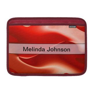 Extracto rojo personalizado de la llama funda para macbook air