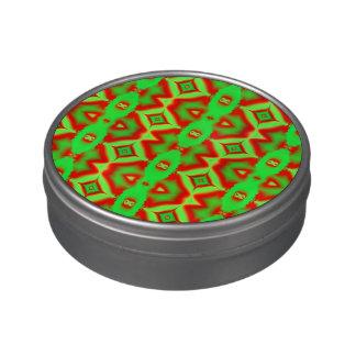 Extracto rojo verde claro del día de fiesta