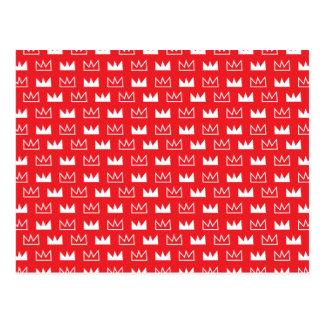 Extracto rojo y blanco intrépido de la corona de postales