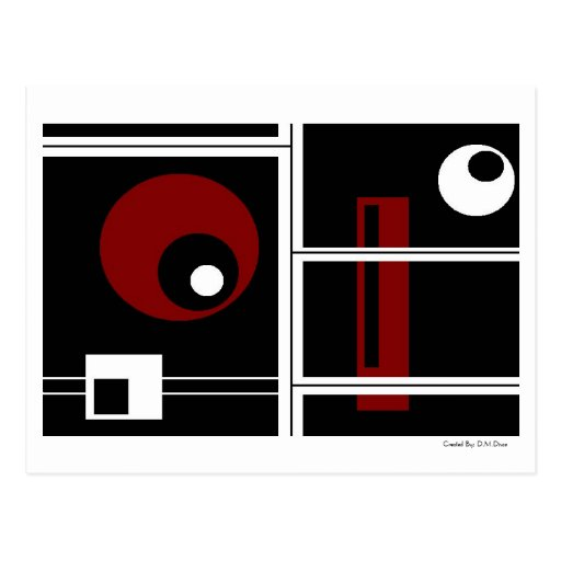 Extracto rojo y negro del terciopelo tarjetas postales