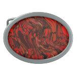 Extracto rojo y negro hebilla de cinturon