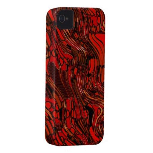 Extracto rojo y negro iPhone 4 Case-Mate cobertura