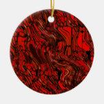 Extracto rojo y negro ornamentos de reyes