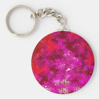 Extracto rojo y púrpura magenta llavero redondo tipo pin