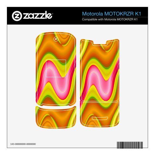 extracto rosado amarillo moderno motorola MOTOKRZR k1 skin