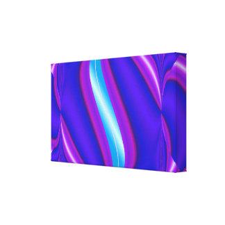 extracto rosado azul del resplandor de la turquesa lona envuelta para galerias