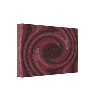 Extracto rosado de color de malva del remolino lona envuelta para galerías