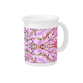 Extracto rosado de la cebra jarra