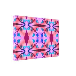 Extracto rosado de la flor de la turquesa impresiones en lona