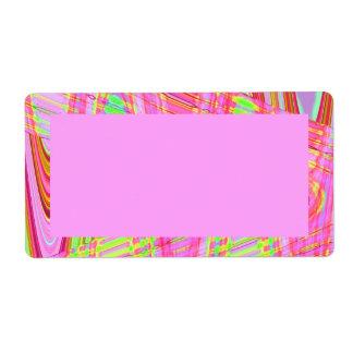 extracto rosado de la onda etiqueta de envío