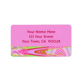 extracto rosado de la onda etiquetas de dirección