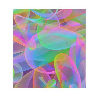 Extracto rosado del arco iris bloc de notas