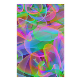 Extracto rosado del arco iris papeleria personalizada