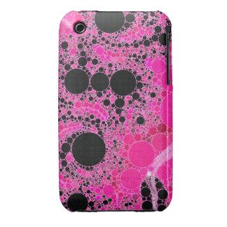 Extracto rosado del chicle iPhone 3 Case-Mate cobertura