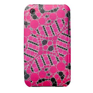 Extracto rosado fluorescente Case-Mate iPhone 3 cobertura