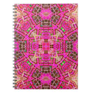 Extracto rosado hermoso loco libretas espirales