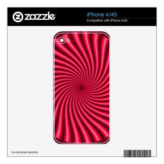 Extracto rosado iPhone 4S calcomanía