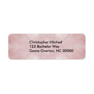 Extracto rosado nublado etiquetas de remite