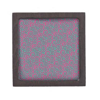 Extracto rosado ondulado de moda único de la turqu cajas de regalo de calidad
