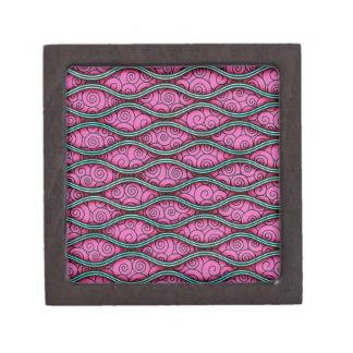 Extracto rosado ondulado femenino de moda de Swirl Caja De Regalo De Calidad