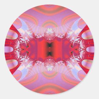 Extracto rosado pegatina redonda