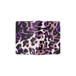 Extracto rosado púrpura del guepardo porta pasaporte