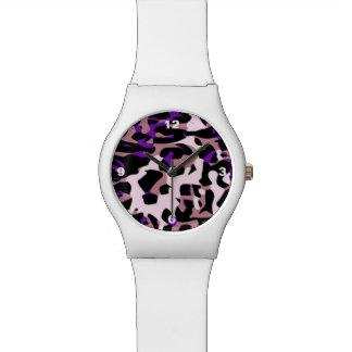 Extracto rosado púrpura del guepardo reloj
