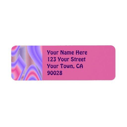extracto rosado púrpura en colores pastel etiqueta de remite
