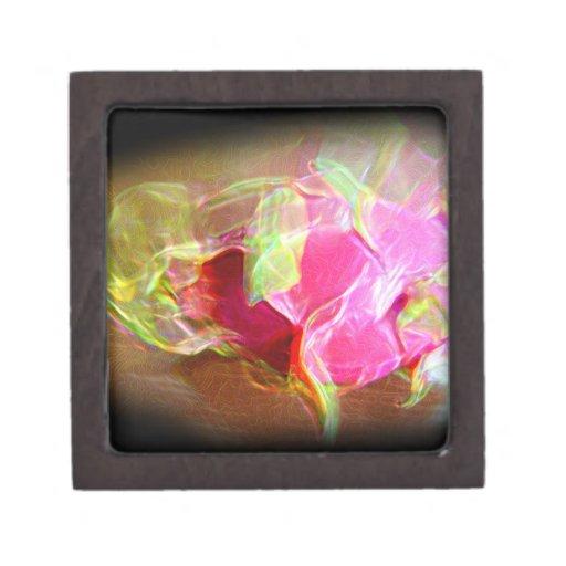 extracto rosado que brilla intensamente stylized d cajas de regalo de calidad