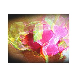 extracto rosado que brilla intensamente stylized d impresiones en lienzo estiradas