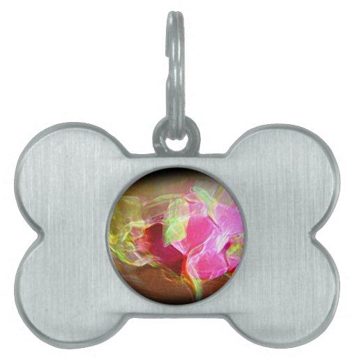 extracto rosado que brilla intensamente stylized d placas mascota