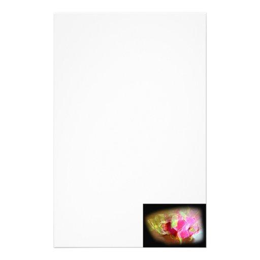extracto rosado que brilla intensamente stylized d papelería