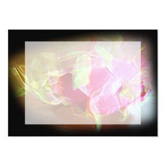 """extracto rosado que brilla intensamente stylized invitación 5"""" x 7"""""""