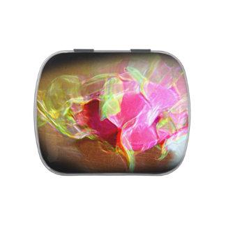 extracto rosado que brilla intensamente stylized latas de caramelos