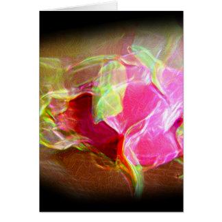 extracto rosado que brilla intensamente stylized tarjeta de felicitación