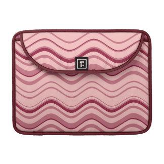 Extracto rosado retro de la onda del arte fundas macbook pro