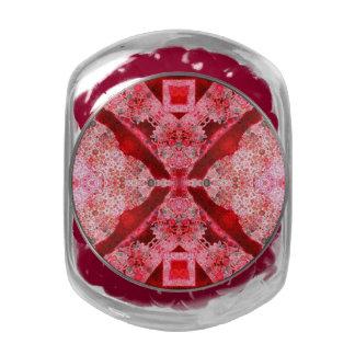 Extracto rosado rojo brillante jarrones cristal