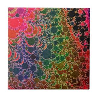 Extracto rosado verde anaranjado fluorescente azulejo cuadrado pequeño